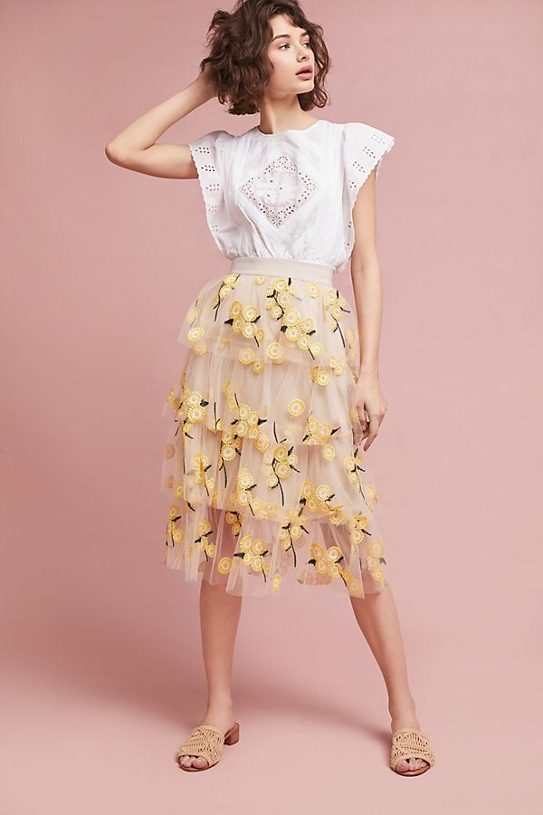 b34f37647b Spring Melody Tulle Skirt | Anthropologie