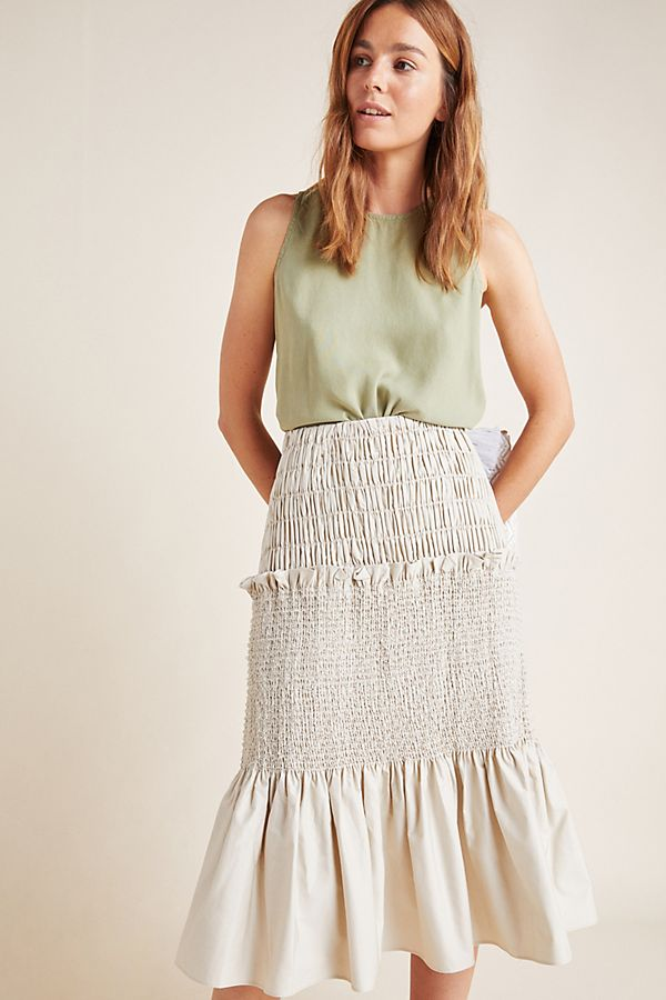 Slide View: 1: Beuhlah Tiered Midi Skirt