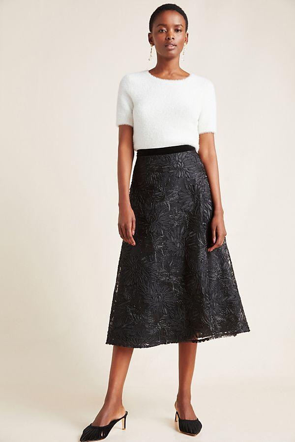 Slide View: 1: Suzette Textured Midi Skirt