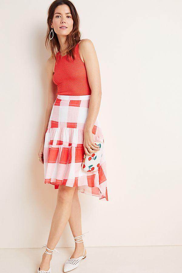 Slide View: 1: Francie Flounced Mini Skirt