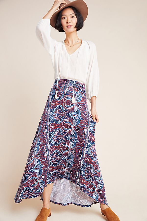 Slide View: 1: Melissa Knit Maxi Skirt