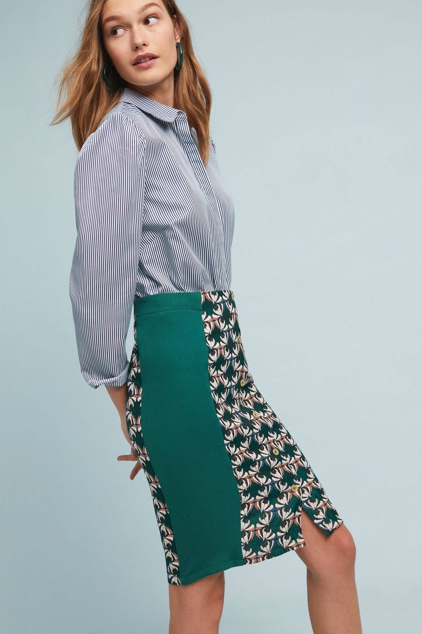 e8678e1c9873 Devlin Buttondown Pencil Skirt | Anthropologie
