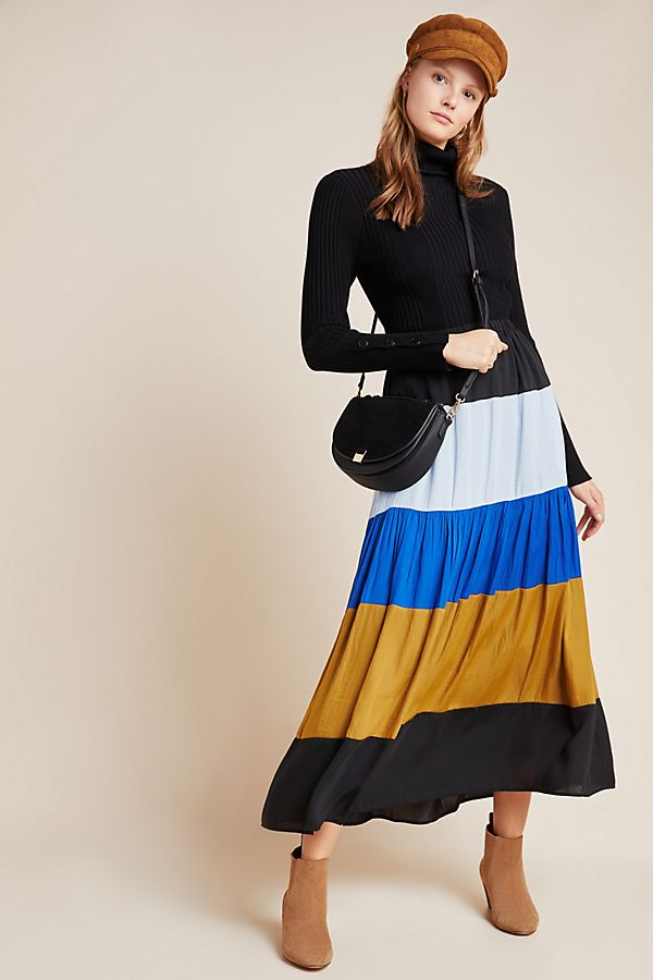 Slide View: 1: DOLAN Collection Freja Tiered Maxi Skirt