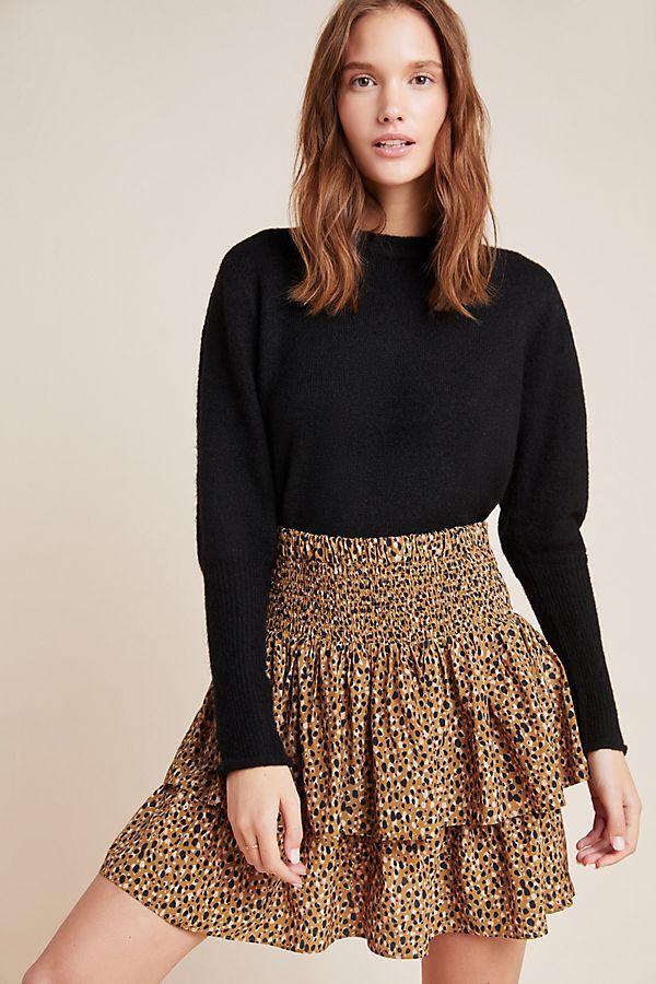 Slide View: 1: DOLAN Collection Ellie Smocked Mini Skirt