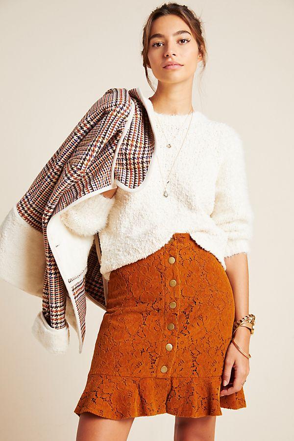 Slide View: 1: Shelby Corduroy Skirt
