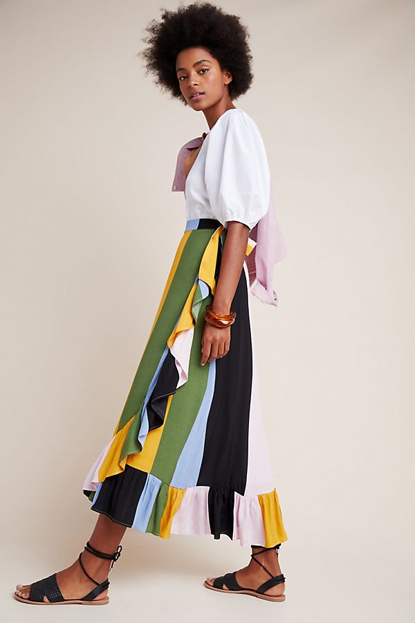 Slide View: 1: DOLAN Collection Mae Wrap Midi Skirt