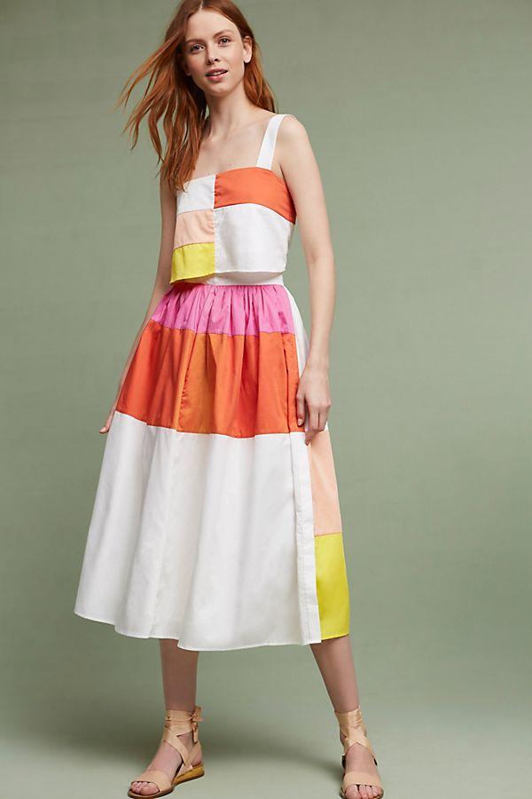 131937e4b255 Patchwork Midi Skirt   Anthropologie