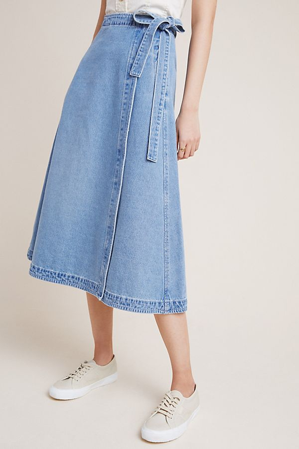 Slide View: 2: Citizens of Humanity Madelyn Denim Wrap Skirt