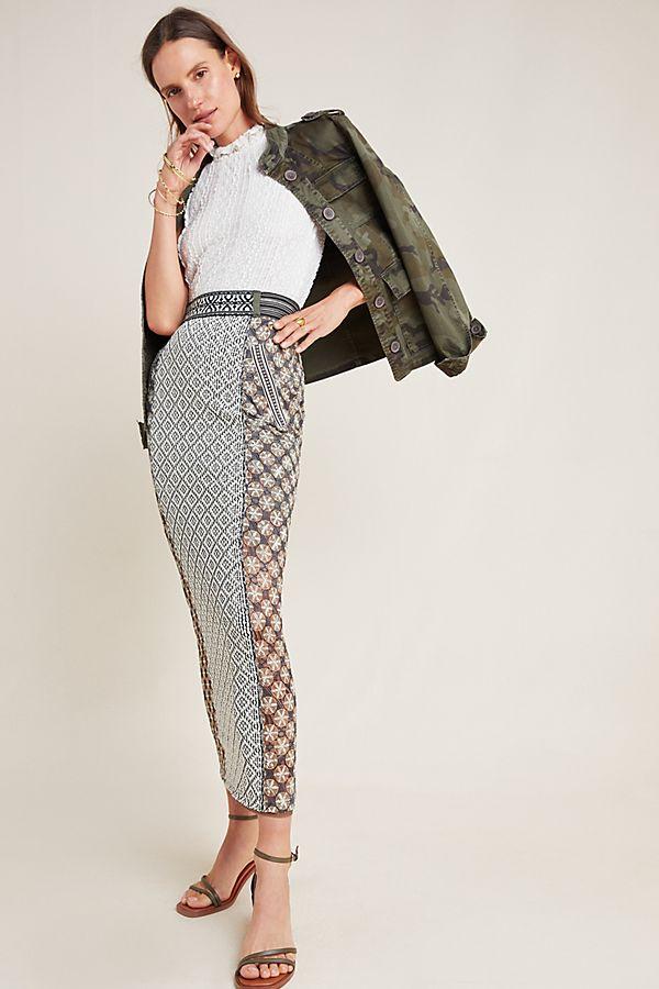 Slide View: 1: Byron Lars Ryan Knit Maxi Skirt