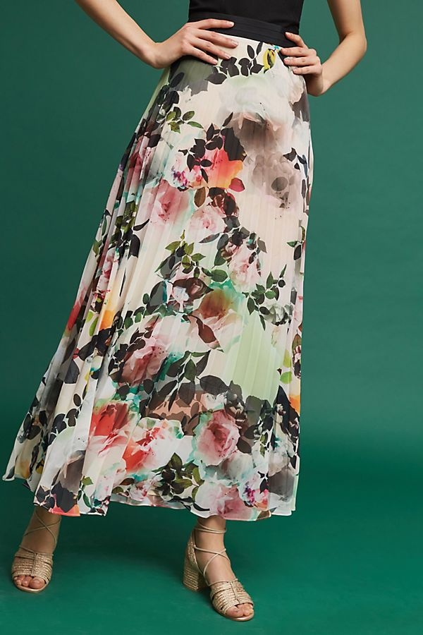 680854dc41 Pleated Floral Skirt | Anthropologie