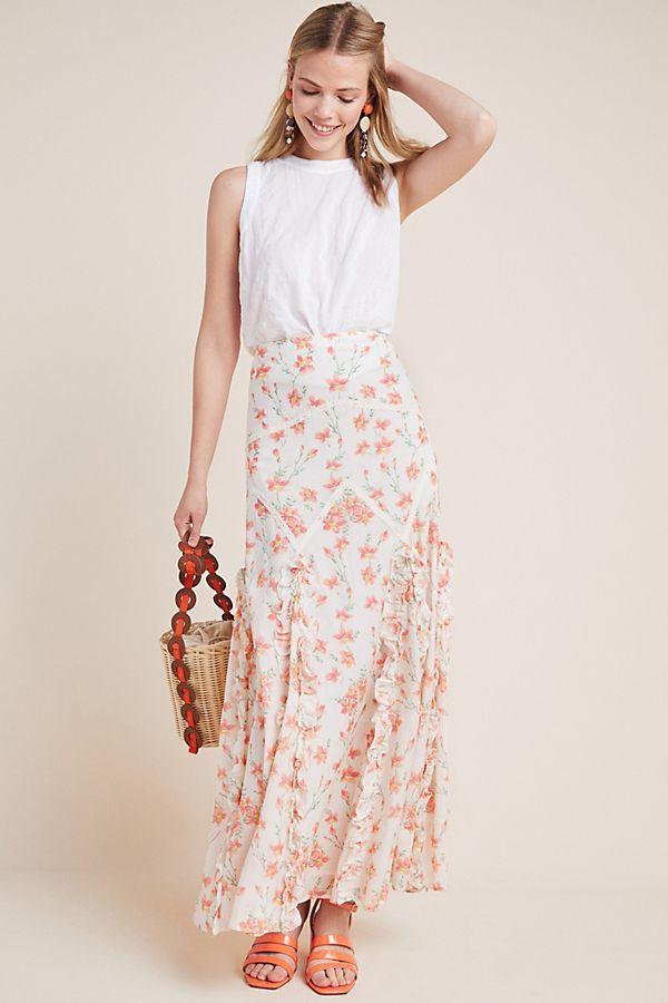 Slide View: 1: Petal Maxi Skirt