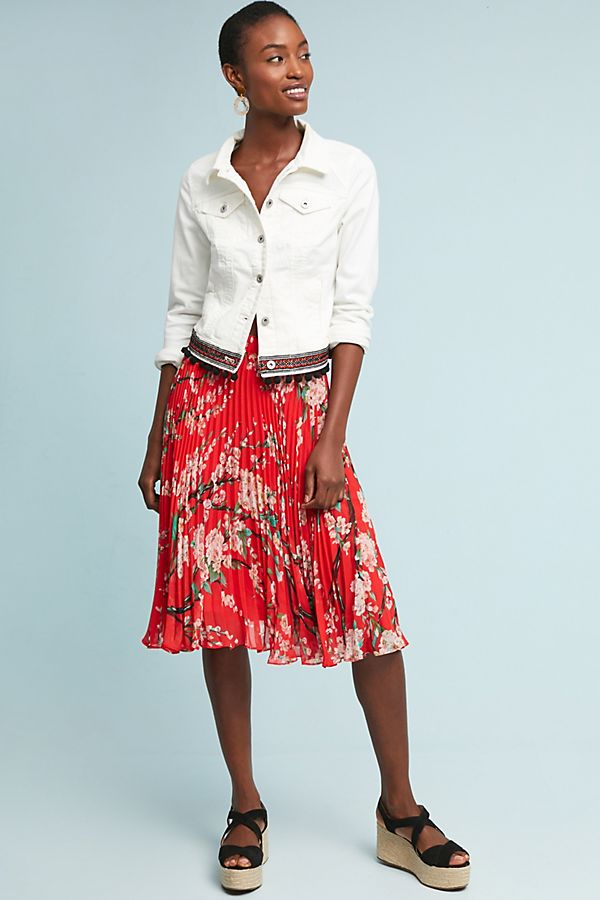 ecca71db3d Kita Pleated Floral Skirt | Anthropologie UK
