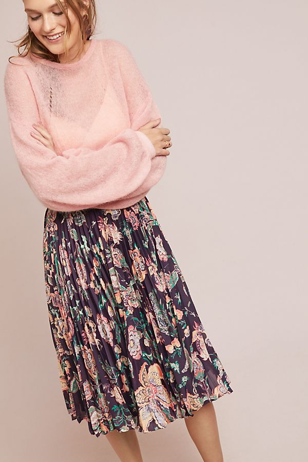 e083fcd9ae Benmore Pleated Floral Skirt | Anthropologie
