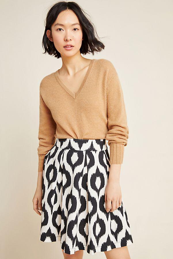 Slide View: 1: Deirdre Pleated A-Line Mini Skirt
