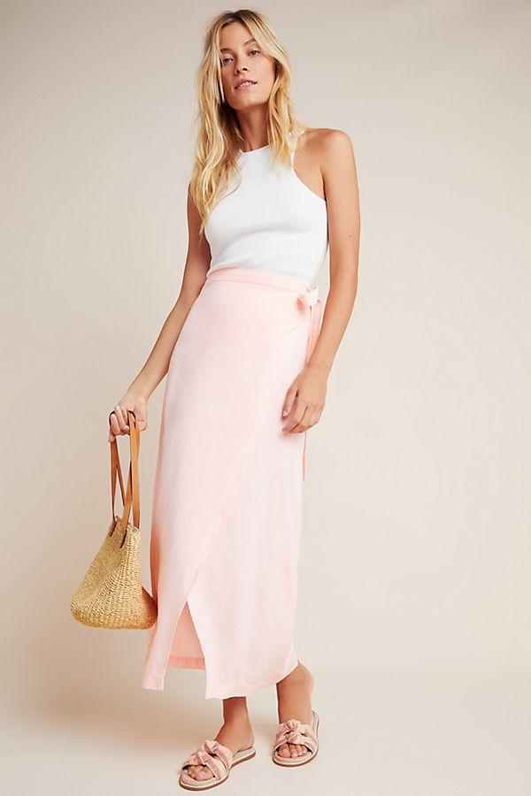 Slide View: 1: Cloth & Stone Wrap Maxi Skirt