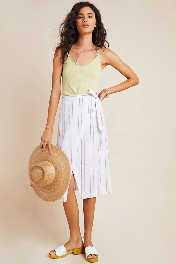 Slide View: 1: Cloth & Stone Estie Wrap Skirt
