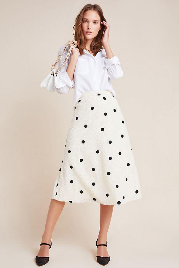 Slide View: 1: Andrea Textured Midi Skirt