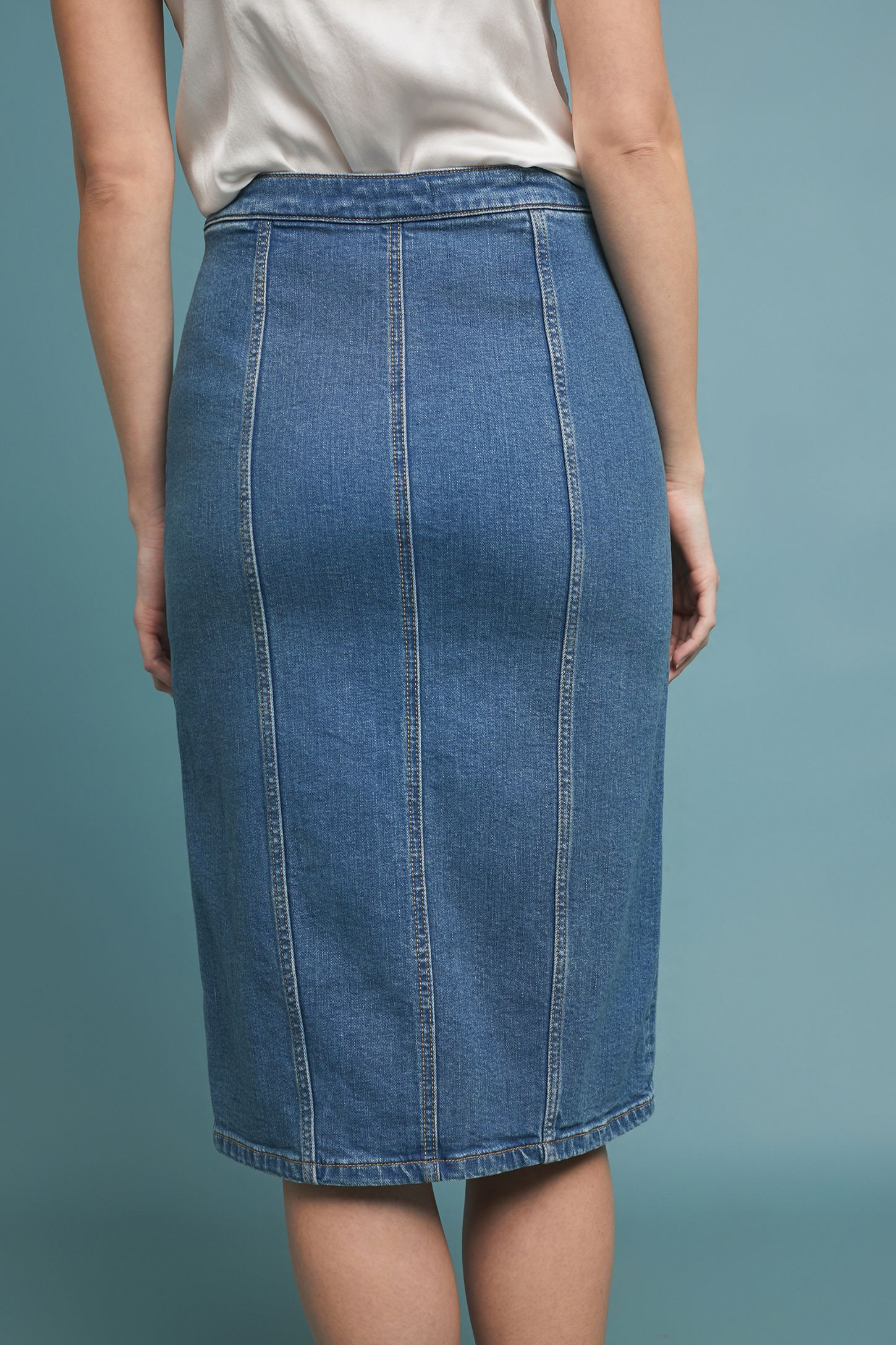 8203c28d7fe Slide View  3  Pilcro Denim Pencil Skirt