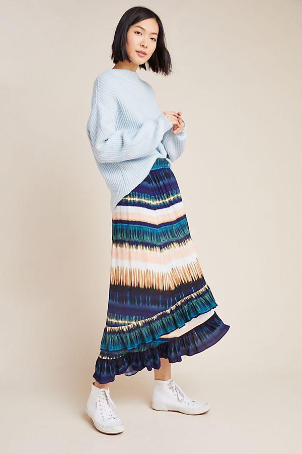 Slide View: 1: Patrizia Ruffled Maxi Skirt