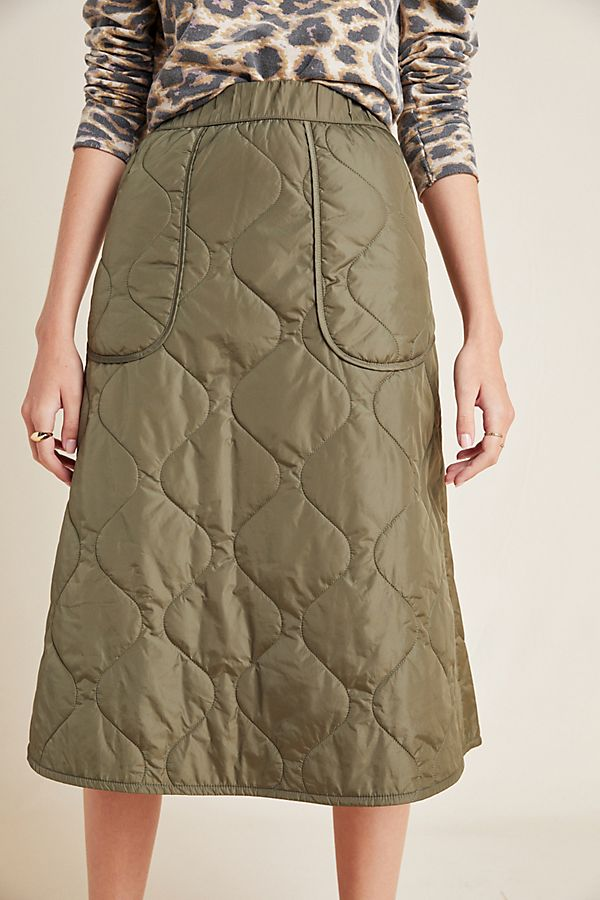 Slide View: 2: Dempsey Quilted A-Line Skirt