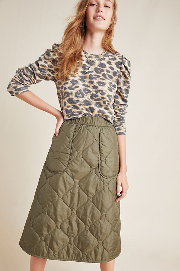 Slide View: 1: Dempsey Quilted A-Line Skirt