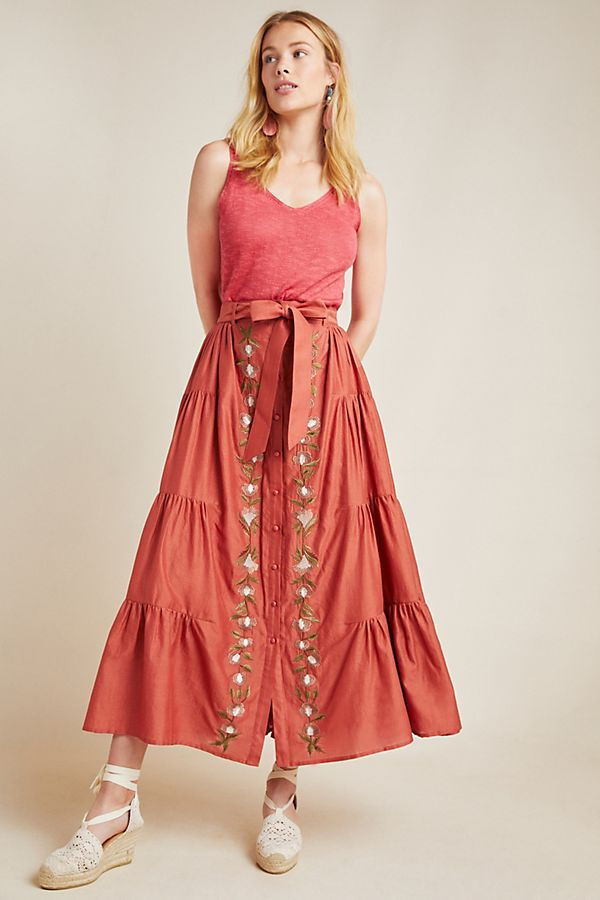 Auguste Embroidered Maxi Skirt by Samant Chauhan