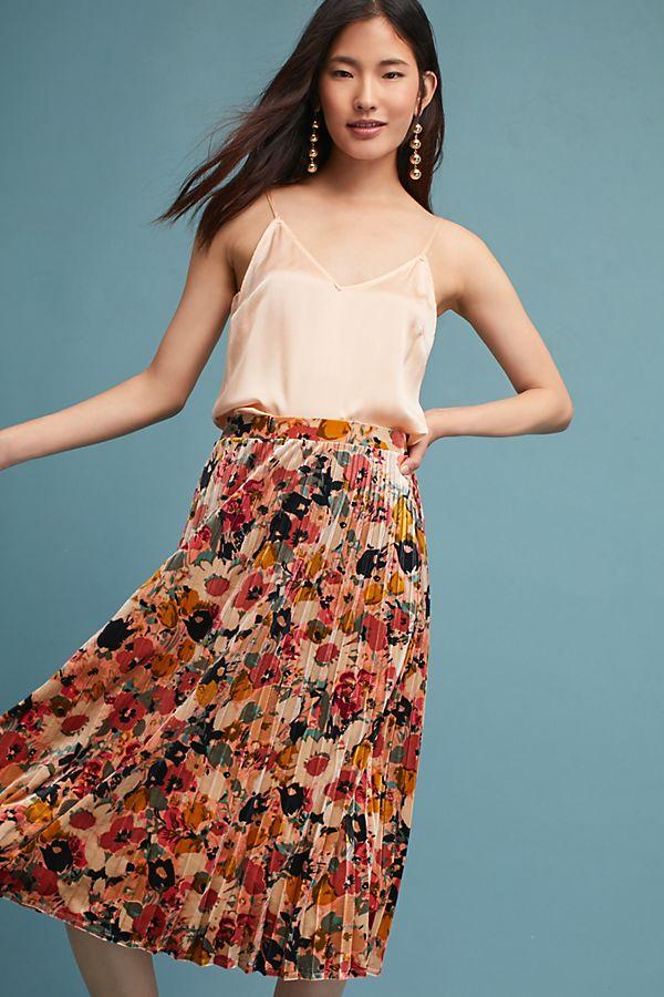 c643437d90 Floral Velvet Skirt | Anthropologie