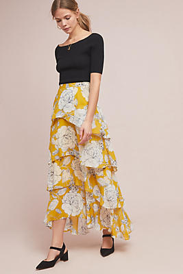 Slide View: 1: Mosier Tiered Maxi Skirt
