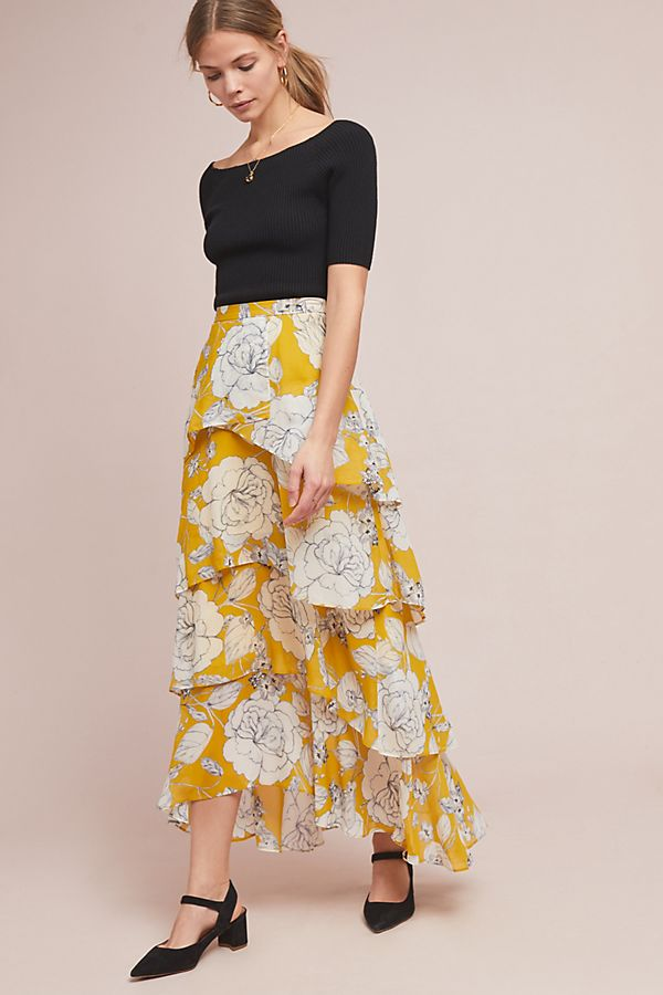 cfb1cc2690 Mosier Tiered Maxi Skirt | Anthropologie
