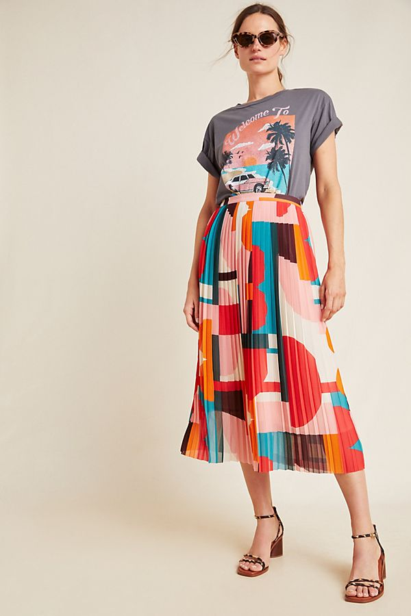 Slide View: 1: Aurelia A-Line Midi Skirt