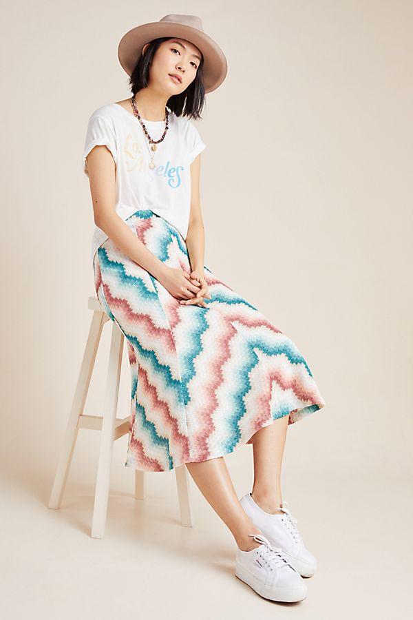 Slide View: 1: Maria Chevron Sweater Skirt