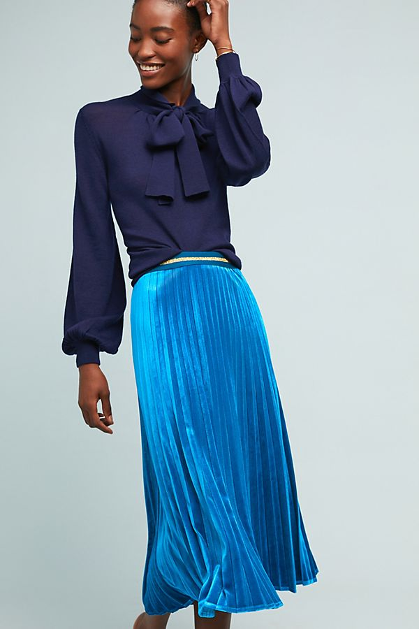 cef3529c16 Pleated Velvet Skirt   Anthropologie UK