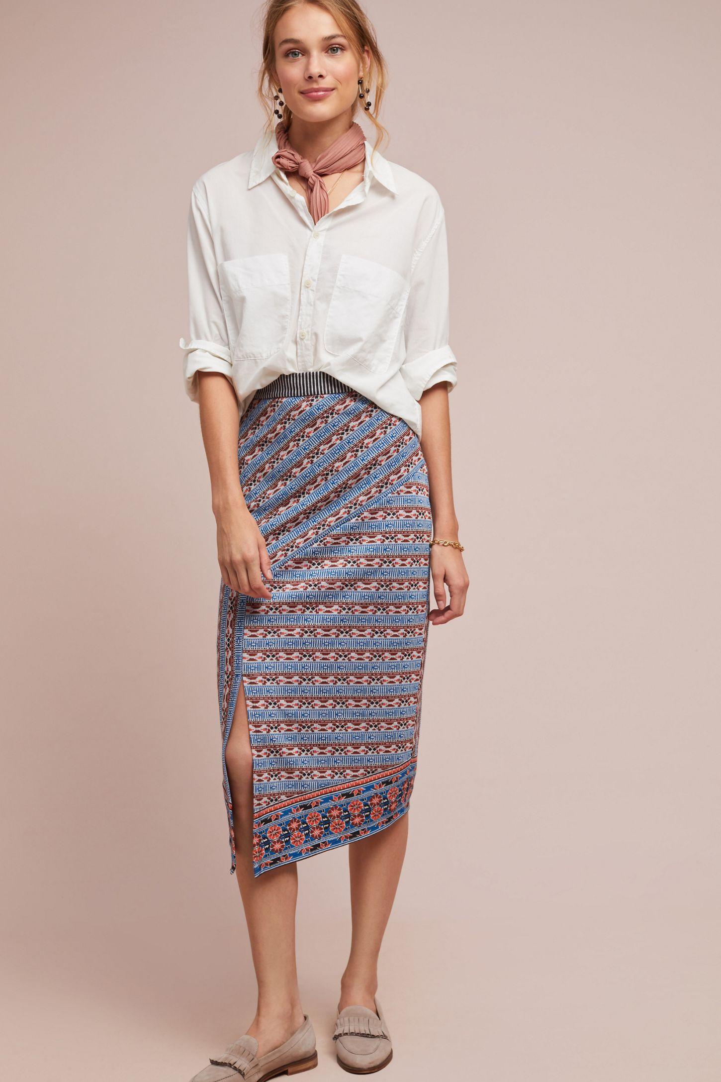 8593d2730b266 Striped Splendor Pencil Skirt