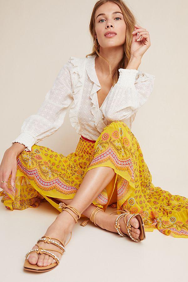 Slide View: 1: Calinda Maxi Skirt