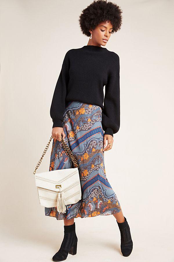 Slide View: 1: Sandrine Bias Midi Skirt