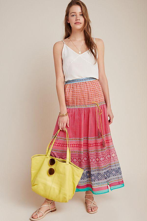Slide View: 1: Dayton Tiered Maxi Skirt