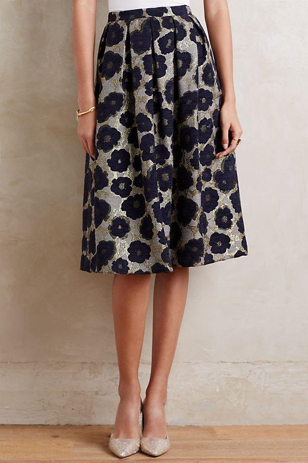 8476a413b Floral Brocade Midi Skirt | Anthropologie