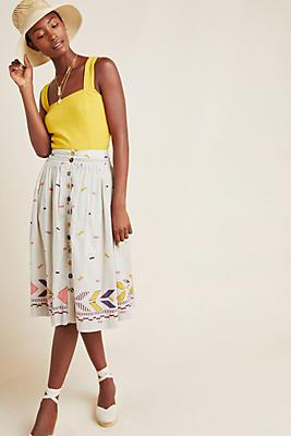 Slide View: 1: Manalie Midi Skirt