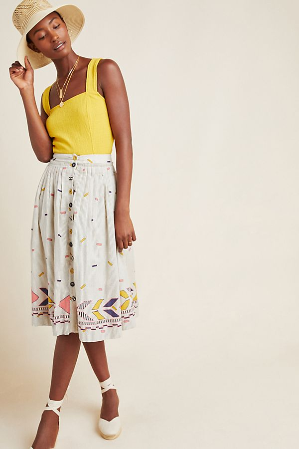 Slide View: 1: Manalie Midi Skirt