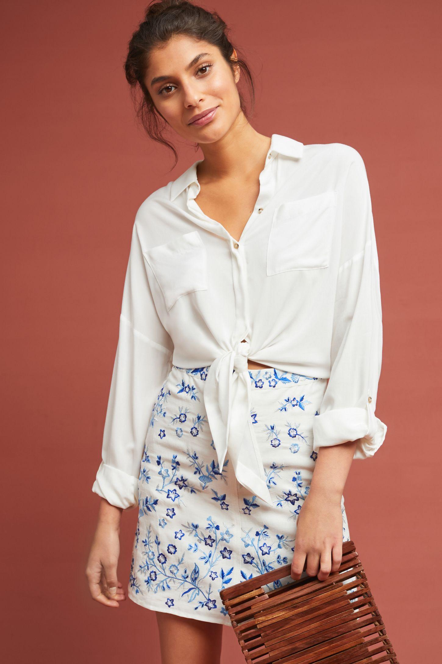 0b32ccfdd8257 Corday Embroidered Mini Skirt