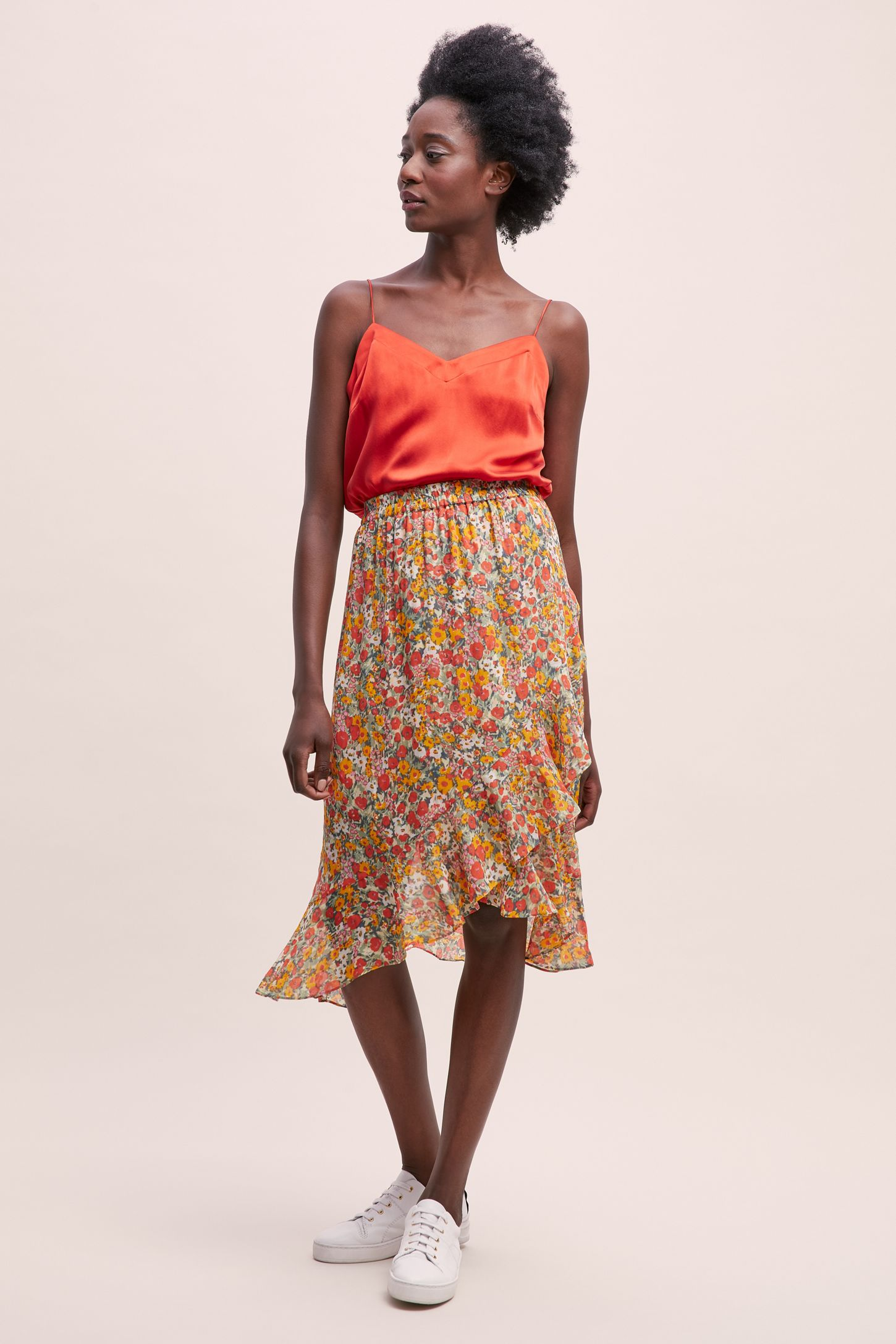0031d1f949 Second Female Floral Pleated Midi Skirt | Anthropologie UK
