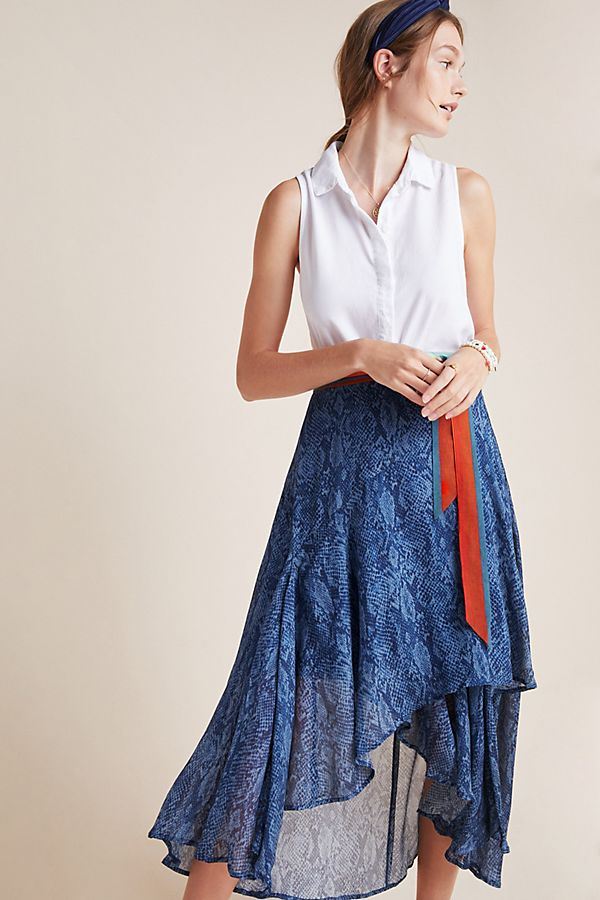 Slide View: 1: Joni Midi Wrap Skirt