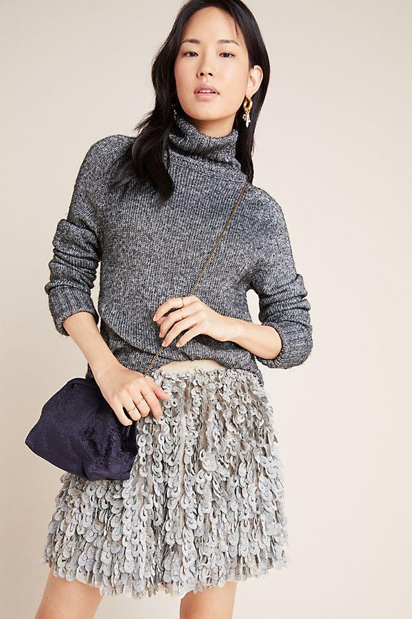 Slide View: 1: Tracie Textured Mini Skirt