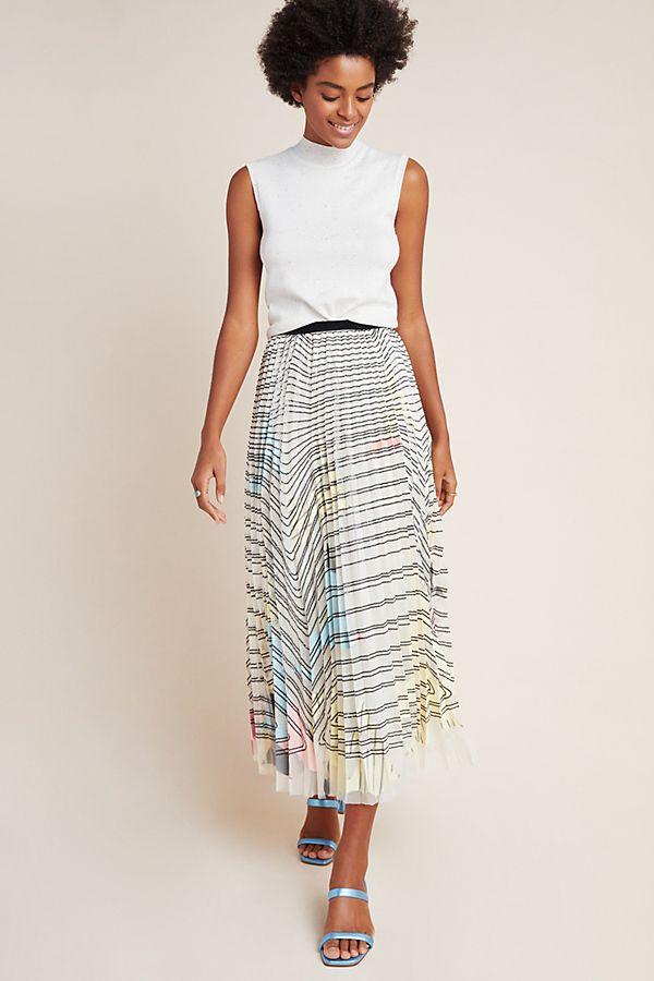 Slide View: 1: Jennifer Sequined Tulle Maxi Skirt