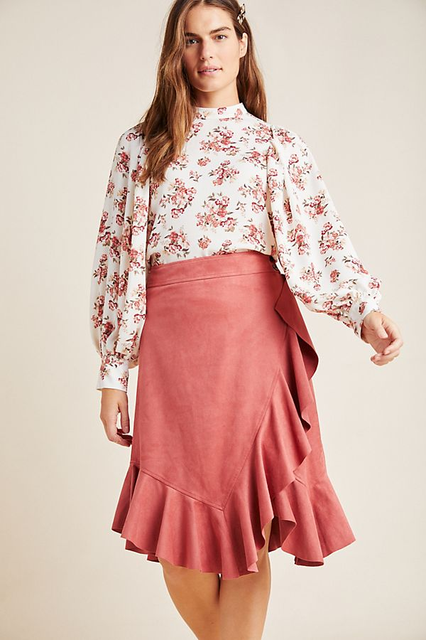 Slide View: 1: Marston Ruffled Wrap Skirt