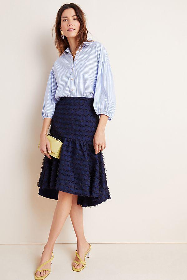 Slide View: 1: Miranda Textured Midi Skirt