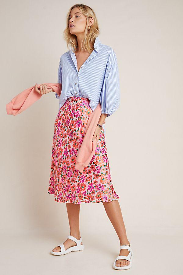 Slide View: 1: Ravenna Bias Midi Skirt