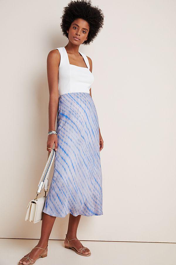 Slide View: 1: Sandrah Tie-Dyed Midi Skirt