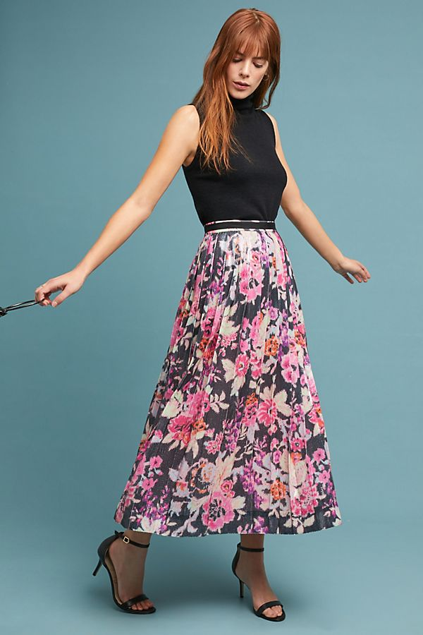 eedc3ed6b0 Pleated Sequin Skirt | Anthropologie