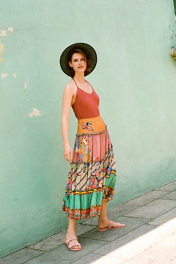 Slide View: 1: Ruth Embellished Maxi Skirt